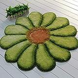 NBE 3D Sun Flower Soft Mat Soyeux entrée Chevet Chambre Chaise d'ordinateur Chaise...