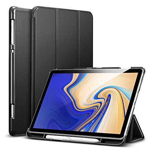 ESR Hülle mit Stifthalter für Samsung Galaxy Tab S4 10,5 Zoll -Trifold Smart Case Cover mit Auto Schlaf-/Aufwachfunktion, Kratzfeste Schutzhülle - Schwarz