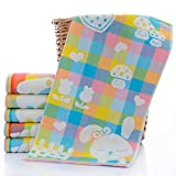 XXIN / Handtücher/Kinder Baumwolle/Gaze Quadrat Handtuch Kinder Handtuch Feuchttücher Speicheltuch/Kaninchen Blau/ 25 * 50