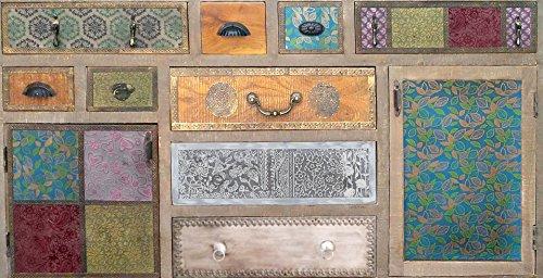 The Wood Times Sideboard Vintage Wohnzimmerschrank Massiv Dhaka Mangoholz, BxHxT 150x90x40 cm - 3