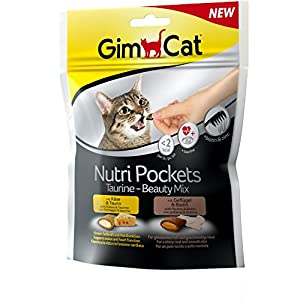 GimCat Nutri Pockets Taurine-Beauty Mix, 1er Pack (1 x 150 g)