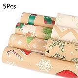 lailongp 5pc Weihnachtsgeschenk-Packpapier-Karikatur-Muster-Packpapier # 3