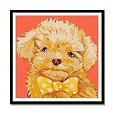JHFVB Perro de Peluche DIY Digital Flor Paisaje Planta Pintura al óleo Pintada a Mano Color Pintura al óleo Pintura Decorativa Dibujos Animados Animal 50x50cm