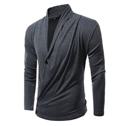 Men's long sleeve cardigan sweater jacket Men's Big size loisirs cardigan à manches longues pour homme