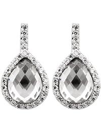 Burgmeister Jewelry Damen-Ohrstecker Zirkonia rhodiniert lila Zirkonia 925 Sterling Silber JHE1049-221