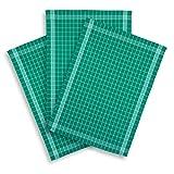 KRACHT, 3er-Set Geschirrtuch Halbleinen Trockenperle vollbunt grün, Edition ziczac-affaires, ca.60x80cm