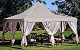 Grasekamp 4 Seitenteile zu Lounge Pavillon Sahara 4x5m Taupe