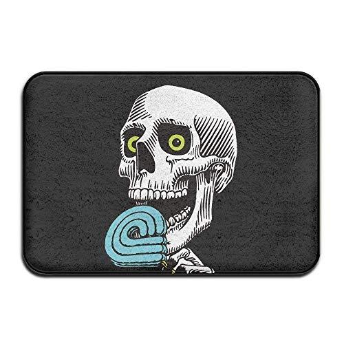 Peralta Skateboard Skate Skull Doormat and Dog Mat,40cm60cm Non-Slip Doormats,Suitable for Indoor Bathroom Kitchen Doormat and Pets