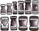 Fibbia a scatto 10mm / 16mm / 25mm / 30mm / 40mm / 50mm Fibbia in plastica, nero, plastica, fibbia, chiusura a scatto, fibbia di ricambio, chiusura a clip, chiusura a scatto, Fibbie Plastica