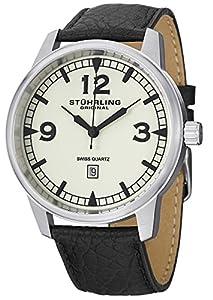 Stuhrling Original 1129Q.02 - Reloj de pulsera hombre, piel, color negro