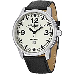 Stuhrling Original Aviator Tuskegee Condor Men's Quartz Watch with Analogue Display and Leather Strap