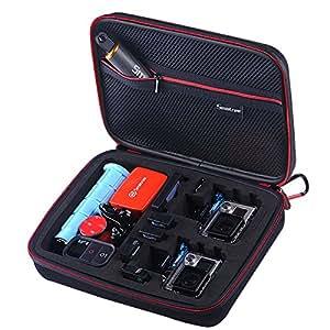 Smatree Smacase G260sw Custodia per GoPro 5,4,3,3+,2,1-Nero&Nero(Fotocamera e Accessori non inclusi)