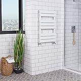 WarmeHaus Designer Handtuchheizkörper Badheizkörper 800x500mm Weiß