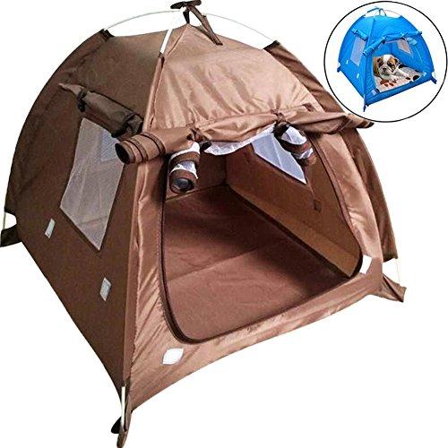 Da JIa Inc Faltbare Pet Zelt tragbar Wasserdicht stabil Hunde Katzen Bett House Camp für Sommer Indoor Outdoor Reise Camping Zelt Sun Shelter Play House für Hunde/Katzen/Kätzchen (Kaffee, M)