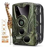 AGM Cámara de Caza, HD 16MP 1080P Trail Cámara, Cámara de Animal Salvaje IP66 Impermeable, 0.3s Disparo Velocidad y Visión Nocturna hasta 20m para Monitoreo de Animal y Doméstica (Verde +)