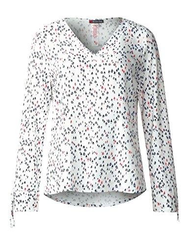 Street One Damen Langarmshirt Mehrfarbig (Off White 30108)