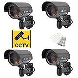 Silverback • 4 Stück Dummy Kamera Für Außen Und Innen • Die Fake Kamera Attrappe Ist Wasserdicht Und 360° Schwenkbar • Das Günstige Outdoor Überwachungssystem In Schwarz