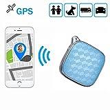 Mini GPS Tracker, WIWIR Wasserdicht GPS Überwachung & Activity Monitor Echtzeit Tracking Gerät Locator mit Schlüsselanhänger für Kinder Ältere Fahrzeuge