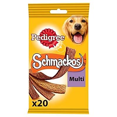 Pedigree Schmackos Dog Treats Meat Variety, 20 Sticks, 172 g (Pack of 9) by Mars Petcare Ltd