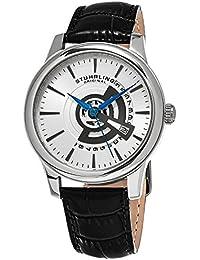Stührling Original 787.01 - Reloj analógico para hombre, correa de cuero, color negro