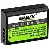 Ayex ® lP-e10 li-ion pour canon eOS 1100D