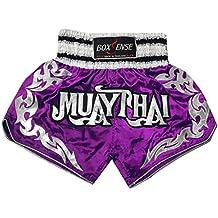 Boxsense Muay Thai Kick Boxeo Tailandes Pantalones : BXS-076-PUR Size L