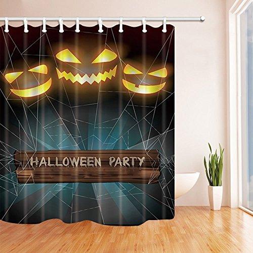 r Bat Augen in Spinnennetz Duschvorhänge Polyester Stoff Wasserdicht Bad Bad Vorhang Duschvorhang Haken enthalten 70.8X70.8in (Die Hand-augen Bat)