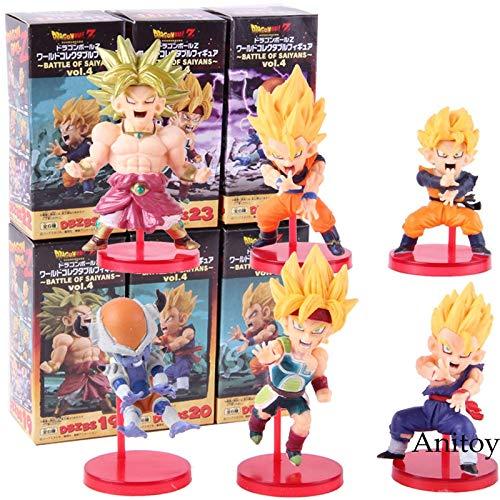 WCF Dragon Ball Z Schlacht der Saiyajins Vol.4 Super Saiyajin Son Goku Gohan Goten Klette Freeza Frieza Action Figure Spielzeug 6 Teile/Satz