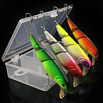 Z&HX sportsThree sections Mino 7.5cm 10.5cm multi-section hard bait fish lures Bionic bait Striped bass by Z&HX sports