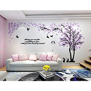 Alicemall Alicemall 3D Wall Stickers Forest Wall Decal Easy to Install &Apply DIY Decor Sticker Home Decor (Large, Forest 8)