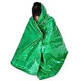 Inovey 210 X cm Outdoor Camping Alfombra De Emergencia De Aislamiento Térmico Reutilizable Manta De Primeros Auxilios Supervivencia-Verde
