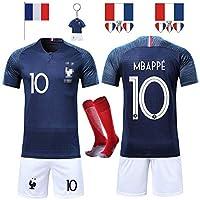 T-shirt de Maillots de Football de France Soccer Jersey 2 étoilesCadeau idéal pour les supporter français qui ont suivis le Mondial.France Genre applicable: Neutre / Mâle Nom de tissu: Polyester 100% Tailles: S, M, L, XL; 16,18,20,22,24,26,28 Couleur...