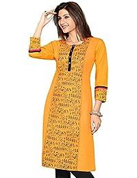 Ashwati Women's Latest Designer Kurti, Long Ethnic Cotton Kurta, Ladies Tops, Casual, Party Wear Dresses For Girls...