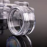 TININNA 25/50/100/200 Pcs 3 Gram Clear Empty Plastic Cosmetic Containers Pot Jars With Lids 200 Pcs