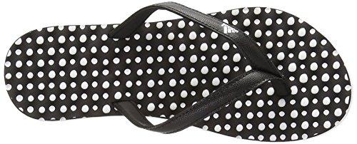 Adidas Performance Eezay Dots W Athletic Sandal, gris / blanc / évasée, 5 M Us White/Black/Black