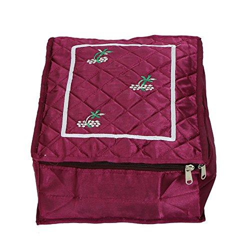 Kuber industrias organizador de viaje, Make up Kit Kit de, pañuelo, bajo Kit de prendas de vestir de raso acolchado material (morado) -ki3285