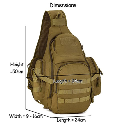 Herren Bodybag großer Sport Brusttasche Bauchtasche Unwucht Rucksack Schultertasche Reisetasche für Reise Camping Hiking 3D verschiedene Farben,Dunkelbraun Dunkelbraun