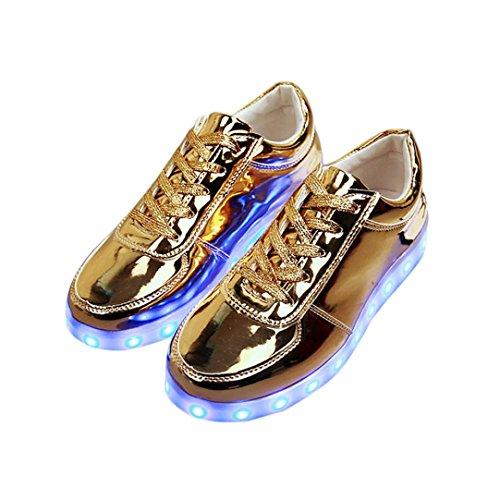 Webla 7 Farbe neutral Kuli LED-Schuhe USB-Aufladung leuchten Glühen-Schuh-Art- und Weiseturnschuhe, die leuchtend leuchten Skateboard Weihnachten Kinder Automatischen 36