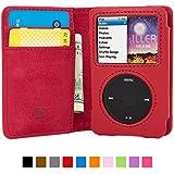 Coque iPod Classic, Snugg Apple iPod Classic Etui à Rabat [Emplacements Pour Cartes] Cuir Portefeuille Housse Désign Exécutif [Garantie à Vie] - Cuir Rouge, Legacy Range