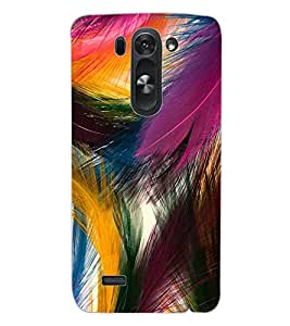 ColourCraft Lovely Feathers Design Back Case Cover for LG G3 BEAT