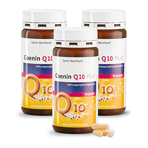 Sanct Bernhard Q10 Coenin Q10 PLUS-Kapseln natürlichem Q10 450 Kapseln