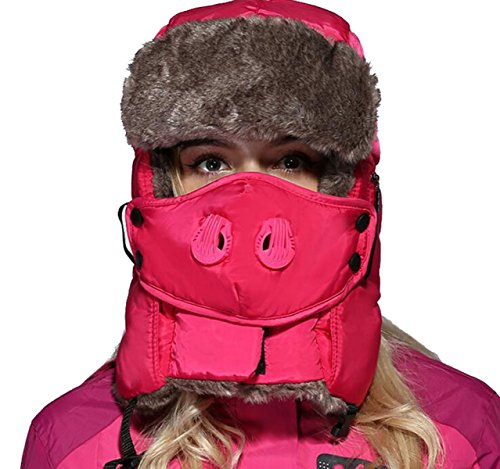 Les Hommes Et Les Femmes Plus épais Hiver Cou Soins De Camouflage De Soins Du Cou Anti-brouillard Et La Brume Tasses Chaudes Rétractables Rose