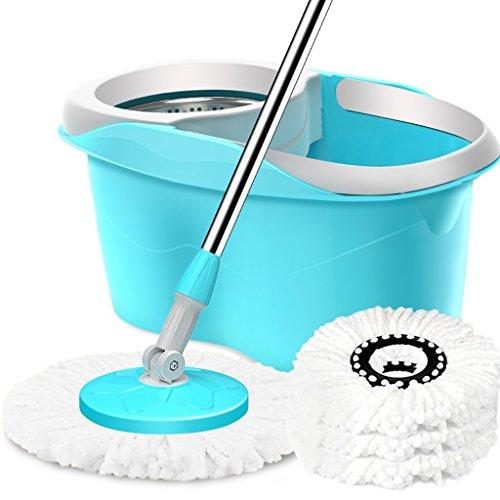Reinigungsmittel Rotary Mop Eimer Hand-Freie Mop Eimer Mopp Gute Gott Drag Hand Druck Selbstfahrende Wasser Reinigungswerkzeug Insgesamt 4 Mop Kopf Blau (Farbe : Blue)