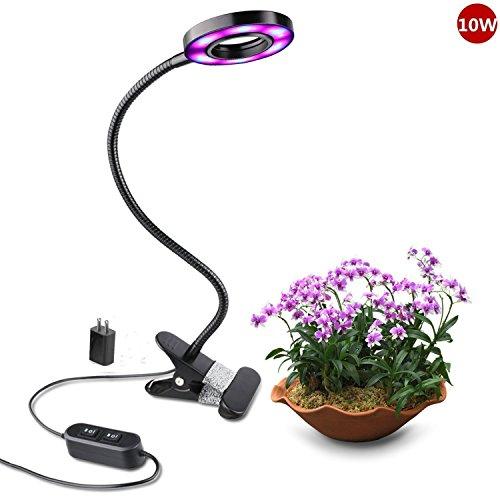 LED-PflanzenlampNiello10W-BlauRot-LED-Grow-Pflanzenlampe-2-Stufig-mit-8-Lichtmodi-Dimmbar360-Grad-Einstellbar-LED-Pflanze-Wachsen-Licht-Schreibtischleuchte-und-Blumenlampe-mit-18-LEDs-12-Rote-6-Blaue-