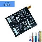 E-yiviil Batteria di ricambio agli ioni di litio BL-T16 compatibile con LG G Flex 2 H950 H955A LS996 H959 2920 mAh con kit di installazione