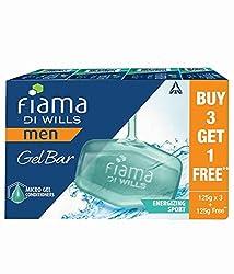Fiama Di Wills Men Energizing Sport Gel Bar -125g buy 3 get 1 free