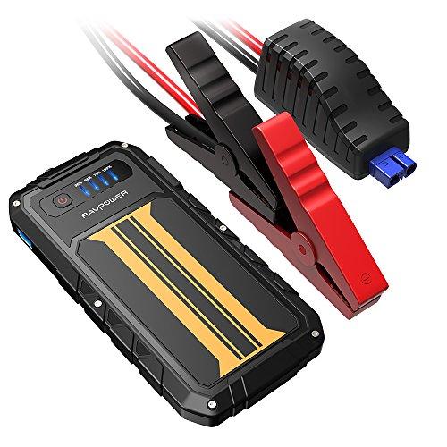 Preisvergleich Produktbild RAVPower Anlasser KFZ-tragbar 8000 mAh,  Jump Starter Booster Akku Auto Spitzenstrom 300 A (für die Diesel 2.0 L 12 V),  Externer Akku Telefon Quick Charge 2.0,  integrierte LED-Lampe