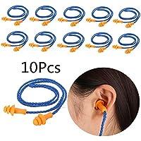sohapy 10Stück blau mit weicher Silikon Wiederverwendbare Ohrstöpsel für Schlafen Gehörschutz Schwimmen preisvergleich bei billige-tabletten.eu