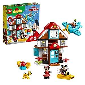 LEGO DUPLODisney LaCasadelleVacanzediTopolino, Set da Costruzione per Bambini di 2 anni con le Figure di Topolino, Minni, Pippo e Pluto, 10889 5702016367515 LEGO