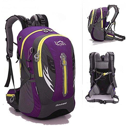 ShangYi Alla rinfusa viaggio campeggio trekking outdoor borsa uomo moda libero Sport zaino zaino 42L , pink Purple